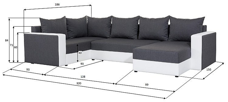 details about wohnlandschaft xxl sofa u form fendi mit schlaffunktion. Black Bedroom Furniture Sets. Home Design Ideas