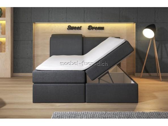 Boxspringbett Borneo mit zwei Bettkästen mit Stoffbezug und Farbauswahl