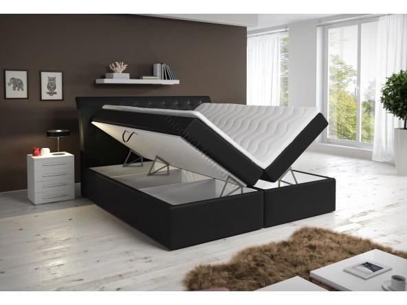 Boxspringbett Kunstlederbett RoxyBox mit zwei Bettkasten weiß oder schwarz