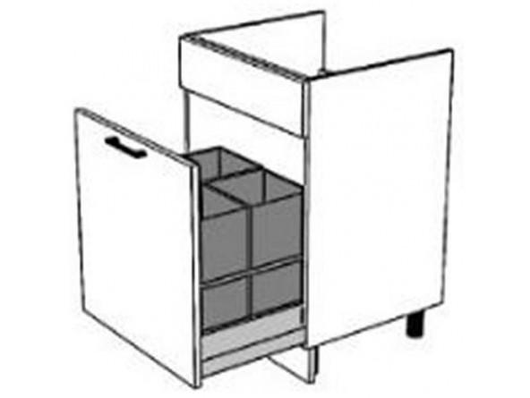 Spülenunterschrank 60 cm| eine Schublade mit Vollauszug