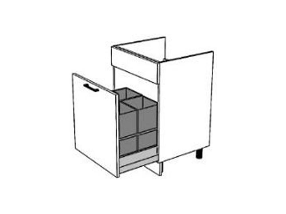 Spülenunterschrank 60 cm  eine Schublade mit Vollauszug