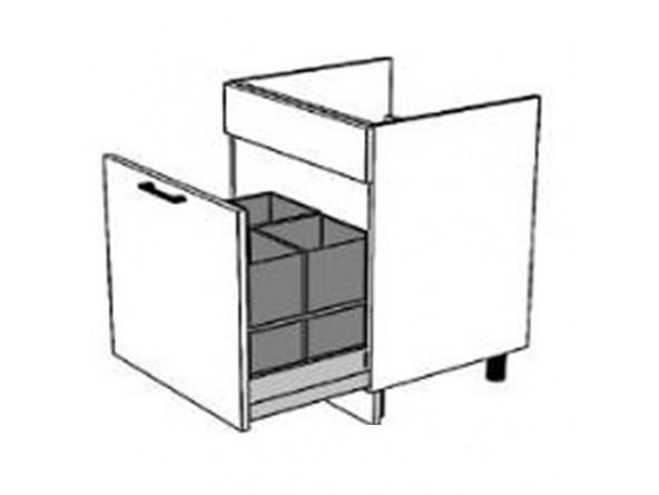 Spülenunterschrank 80 cm| eine Schublade mit Vollauszug