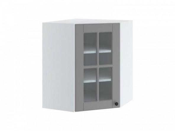 LORA WNW 6/72 Hängeschrank| Eckschrank mit Glastür 60x60 cm| eine Tür mit Glas