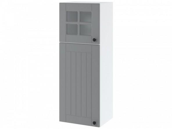 LORA WPW 4/108 Hängeschrank hoch 40 cm| zwei Türen| obere Tür mit Glas