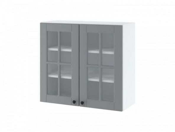 LORA WW 8/72 Hängeschrank 80 cm| zwei Türen mit Glas