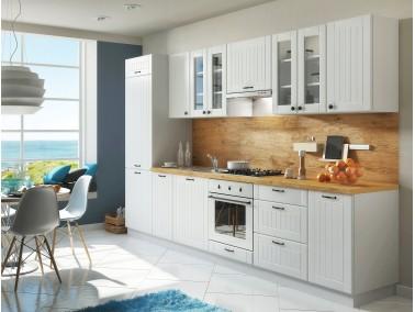 Landhausküche mit Lamellen LORA 320 cm