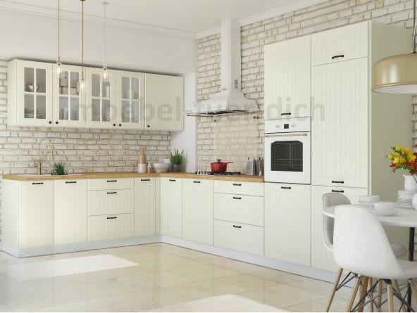 Küche Lora - Beispielkonfiguration L-formig - Beige
