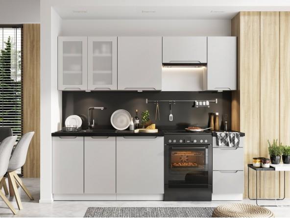 Küche Zoya Beispielkonfiguration - hellgrau matt