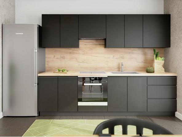 Küche Campari - Beispielkonfiguration Schwarz Matt