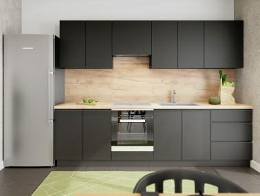 Grifflose Küche Campari Schwarz Matt Beispielkonfiguration