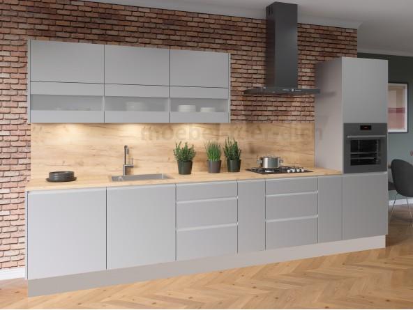Grifflose Küchenkollektion Campari grau Beispielkonfiguration