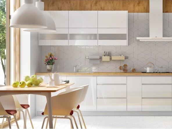 Küchenzeile Campari 270 cm Fronten und Korpus weiß
