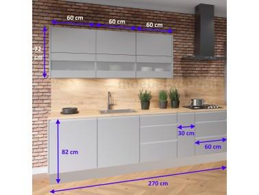 Küchenzeile Campari 270 cm - Abmessungen