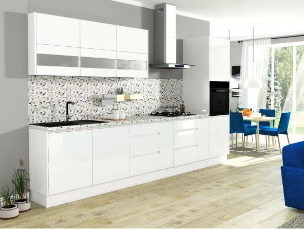 Campari Küchenzeile 360 cm Weiß