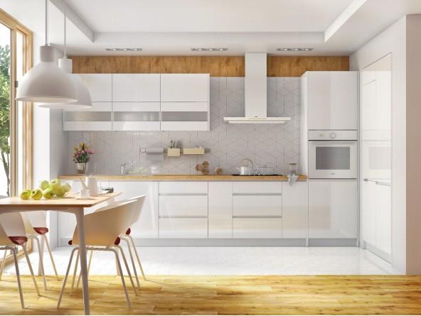 Küche Campari -Beispielkonfiguration - Hochglanz Weiß