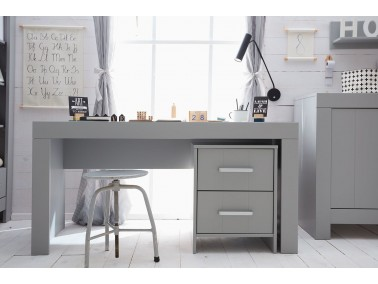 Schreibtisch grau