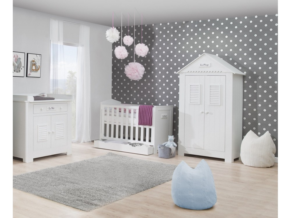 Babyzimmer Set Marseille MDF von Pinio 4 tlg