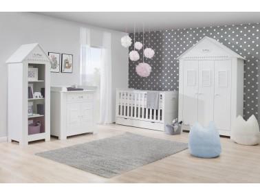 Babyzimmer Marseille MDF von Pinio Beispielkonfiguration mit 3T Schrank