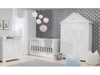 Marseille MDF 5-teiliges Babyzimmer mit Kombibett