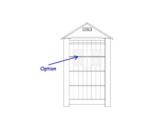 Marseille - MDF zweitüriger Kleiderschrank - Option