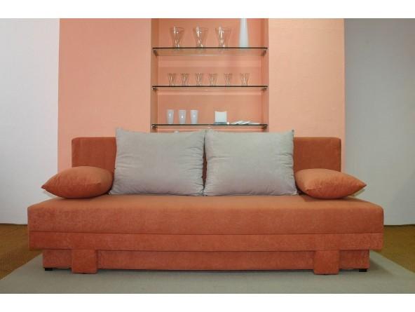 Schlafsofa Lotus mit Federkern und Bettkasten, Stoff- und Farbauswahl