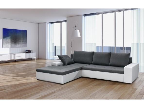 Grosses Designer Ecksofa PORTO Eckcouch Sofa mit Schlaffunktion