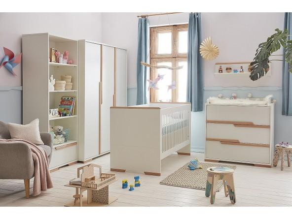 Kinderzimmer Set Snap von PINIO 6-tlg. mit Kombibett und großem dreitürigen Kleiderschrank.
